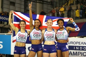 Zoey Clark,  Laviai Nielson, Eilidh Doyle and Amber Anning